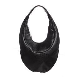 Bvlgari Black Leather Ascot Hobo Shoulder Bag