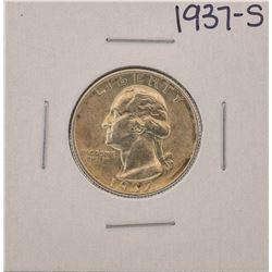 1937-S Washington Silver Quarter Coin