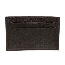 Bvlgari Black Leather Cardholder Wallet