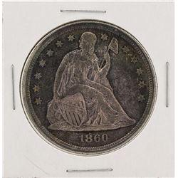 1860-O No Motto $1 Seated Liberty Silver Dollar Coin