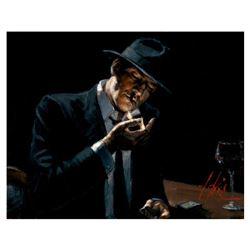 Man Lighting Cigarette by Perez, Fabian