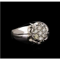 14KT White Gold 0.69 ctw Diamond Ring