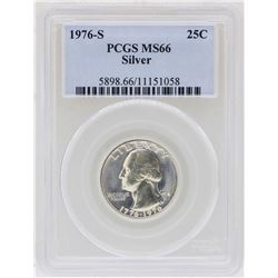 1976-S Washington Quarter Silver Coin PCGS MS66