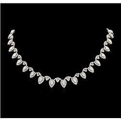 14.06 ctw Diamond Necklace - 18KT White Gold