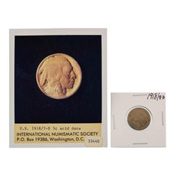 1918/7-D  Overdate Buffalo Nickel Coin