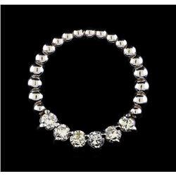0.47 ctw Diamond Pendant - 14KT White Gold