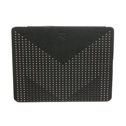 MCM Green Leather Studded Tablet Case Cover