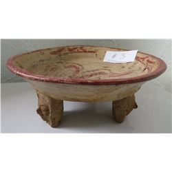 Mayan Tripod Effigy Bowl