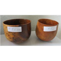 2 Hawaiian Wood Bowls