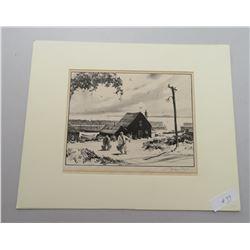Gordon Grant Signed Lithograph