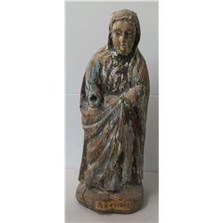 16th Century Japanese Christian Virgin Mary Carving