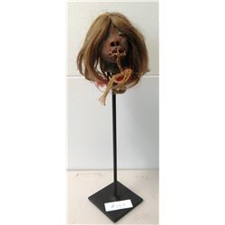 Shrunken Head Reproduction w/Stand