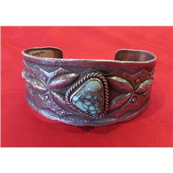 Navajo Tufa Cast Bracelet w/Turquoise