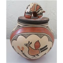 Effigy Lidded Pot