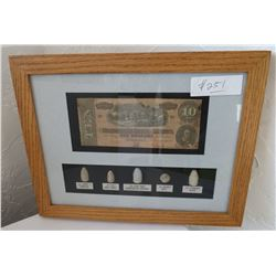 Civil War Relics Frame