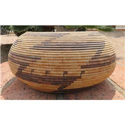 Pomo Coil Basket-Globular
