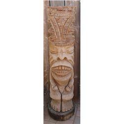 Polynesian-style Tiki Carving