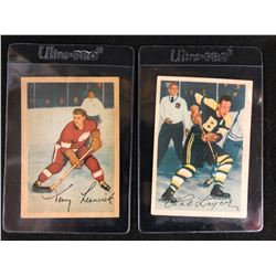 1953-54 Parkhurst Hockey Card Lot (#43 TONY LESWICK/ #87 HAL LAYCOE)