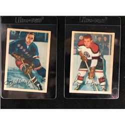 "1953-54 Parkhurst Hockey Card Lot (#62 NICK MICKOWSKI/ #72 LIDIO ""LEE"" FOGOLIN)"