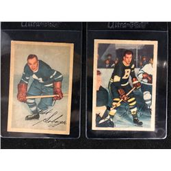 "1953-54 Parkhurst Hockey Card Lot (#16 BOB SOLINGER/ #90 EDWARD ""SANDY"" SANDFORD)"