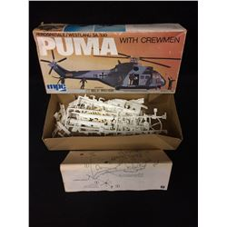 MPC PUMA WESTLAND SA 330 WITH CREWMEN 1:72 SCALE (UNNASSEMBLED)