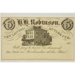 185? H.H. ROBINSON NEW LONDON BUTLER COMPANY