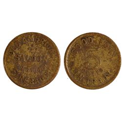 Old American Saloon Token