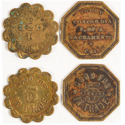 Old Sacramento Tokens