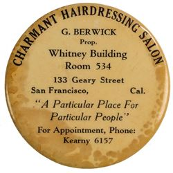 Charmant Hairdressing Salon Advertising Mirror