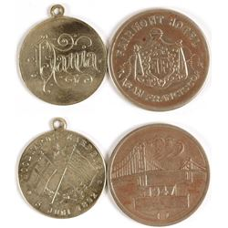 Fairmont Hotel/Woodwards Gardens Tokens