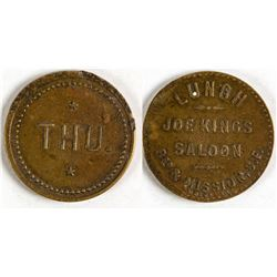 Joe Kings Saloon Token