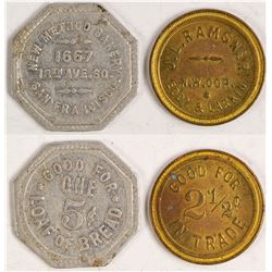 Old San Francisco Tokens