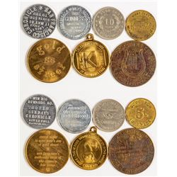 Seven San Francisco Tokens