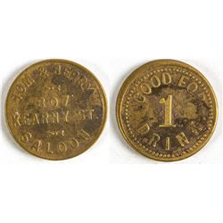 Tom & Jerry Saloon Token