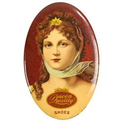 Queen Quality Shoes Advertising Mirror