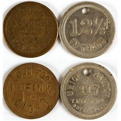 Two Saloon Tokens