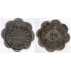 Jos. Messer's Saloon Token
