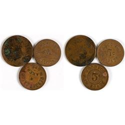 Three Saloon Tokens