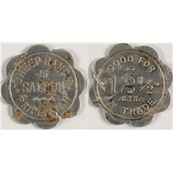 Sheep Ranch Saloon Token