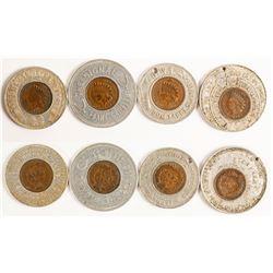 Four Indian Head Encased Pennies