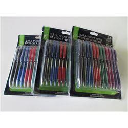 Bundle of 3 Packs of Pens 24 in each pack