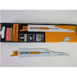 """New Craftsman Professional Recip/Sawzall Blades / 6"""" for wood with nails"""