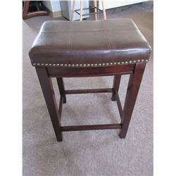 """New Upolstered Saddle Stool / 18.4 x 14.25 x 26 """" tall"""