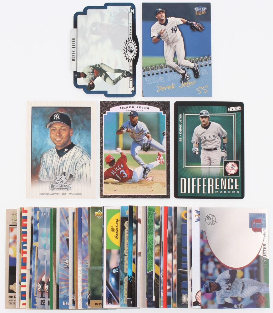 Lot Of 50 Derek Jeter Baseball Cards With 1996 Spx 43 2003