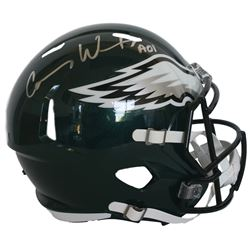 d8198039a Carson Wentz Signed Eagles Full-Size Speed Helmet Inscribed