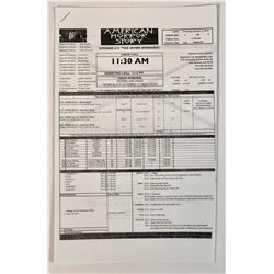 American Horror Story (2011– ) - Collection of Call Sheets And Script Pages (2014)