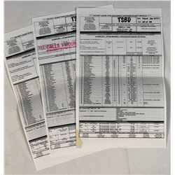 The Twilight Saga: Breaking Dawn - Part 1 (2011) - Collection of 3 Call Sheets