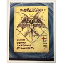 Evil Dead II (1987) -  Necronomicon Book Page (Print) Signed by Tom Sullivan
