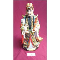 Porcelain Chinese God Figure
