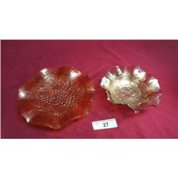 2 Pieces of Carnival Glass